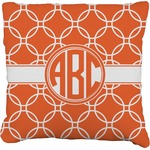Linked Circles Faux-Linen Throw Pillow (Personalized)