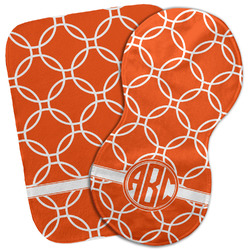 Linked Circles Burp Cloth (Personalized)