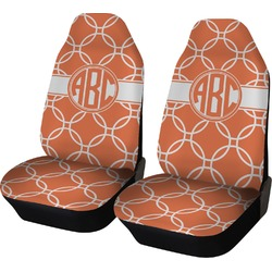 Linked Circles Car Seat Covers (Set of Two) (Personalized)