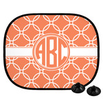 Linked Circles Car Side Window Sun Shade (Personalized)
