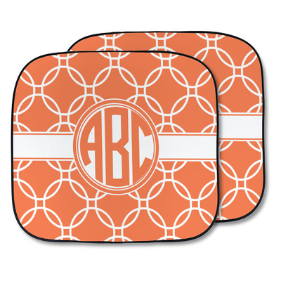 Linked Circles Car Sun Shade - Two Piece (Personalized)