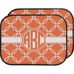 Linked Circles Car Floor Mats (Back Seat) (Personalized)