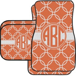 Linked Circles Car Floor Mats Set - 2 Front & 2 Back (Personalized)