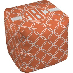 Linked Circles Cube Pouf Ottoman (Personalized)