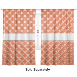 "Linked Circles Curtains - 40""x84"" Panels - Unlined (2 Panels Per Set) (Personalized)"