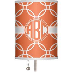 "Linked Circles 7"" Drum Lamp Shade (Personalized)"