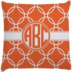 Linked Circles Decorative Pillow Case (Personalized)