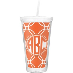 Linked Circles Double Wall Tumbler with Straw (Personalized)