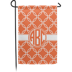 Linked Circles Garden Flag - Single or Double Sided (Personalized)
