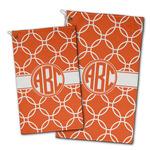 Linked Circles Golf Towel - Full Print w/ Monogram
