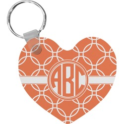 Linked Circles Heart Keychain (Personalized)