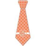 Linked Circles Iron On Tie - 4 Sizes w/ Monogram