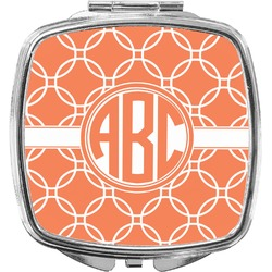 Linked Circles Compact Makeup Mirror (Personalized)