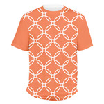 Linked Circles Men's Crew T-Shirt (Personalized)