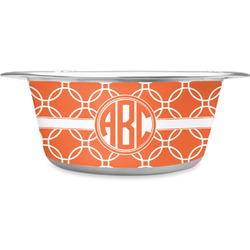 Linked Circles Stainless Steel Dog Bowl (Personalized)