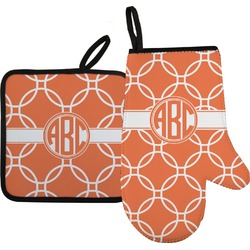 Linked Circles Oven Mitt & Pot Holder (Personalized)