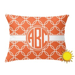 Linked Circles Outdoor Throw Pillow (Rectangular) (Personalized)