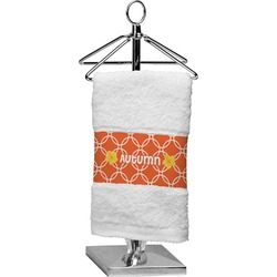 Linked Circles Finger Tip Towel (Personalized)