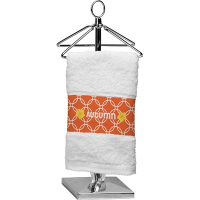 Linked Circles Cotton Finger Tip Towel (Personalized)