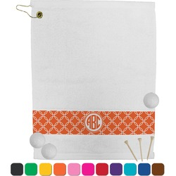 Linked Circles Golf Towel (Personalized)