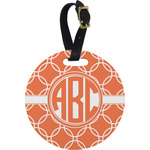 Linked Circles Round Luggage Tag (Personalized)