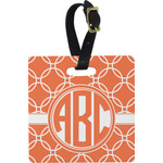 Linked Circles Square Luggage Tag (Personalized)