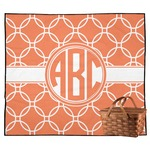 Linked Circles Outdoor Picnic Blanket (Personalized)