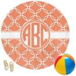 Linked Circles Round Beach Towel (Personalized)