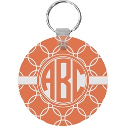 Linked Circles Round Keychain (Personalized)