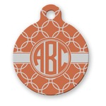 Linked Circles Round Pet Tag (Personalized)