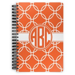 Linked Circles Spiral Bound Notebook (Personalized)