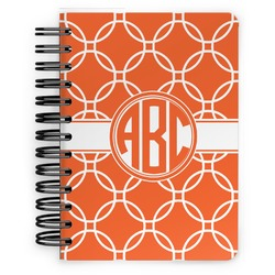 Linked Circles Spiral Bound Notebook - 5x7 (Personalized)