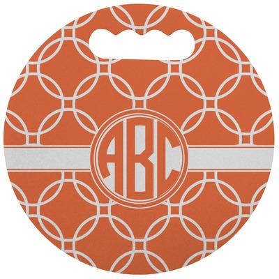 Linked Circles Stadium Cushion (Round) (Personalized)