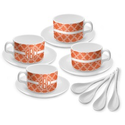 Linked Circles Tea Cup - Set of 4 (Personalized)