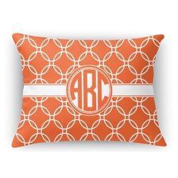 Linked Circles Rectangular Throw Pillow Case (Personalized)