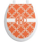Linked Circles Toilet Seat Decal (Personalized)