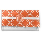 Linked Circles Vinyl Checkbook Cover (Personalized)