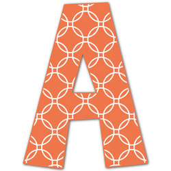 Linked Circles Letter Decal - Custom Sizes (Personalized)