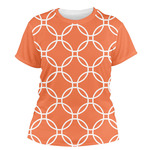 Linked Circles Women's Crew T-Shirt (Personalized)
