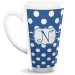 Polka Dots 16 Oz Latte Mug (Personalized)
