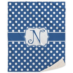Polka Dots Sherpa Throw Blanket (Personalized)