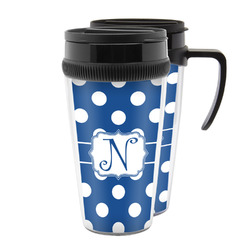Polka Dots Acrylic Travel Mugs (Personalized)