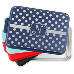 Polka Dots Aluminum Baking Pan with Lid (Personalized)