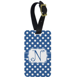 Polka Dots Aluminum Luggage Tag (Personalized)