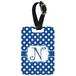 Polka Dots Aluminum Luggage Tag (Personalized)