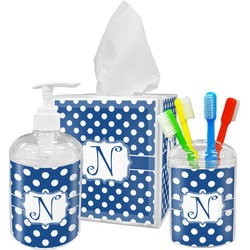 Polka Dots Bathroom Accessories Set (Personalized)