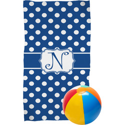 Polka Dots Beach Towel (Personalized)