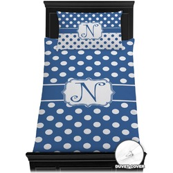 Polka Dots Duvet Cover Set - Twin (Personalized)