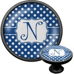 Polka Dots Cabinet Knob (Black) (Personalized)