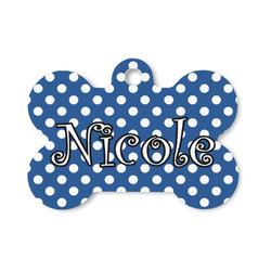 Polka Dots Bone Shaped Dog Tag (Personalized)